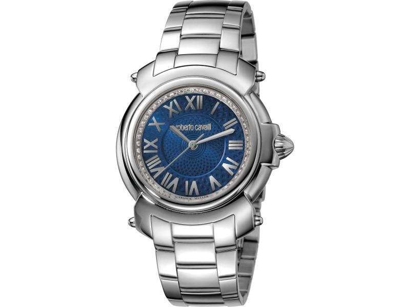 Roberto Cavalli Blue Silver Stainless Steel  RV1L005M0046 Watch