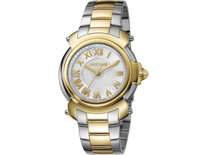 Roberto Cavalli Silver Two-Tone SS/IPYG Stainless Steel  RV1L005M0076 Watch