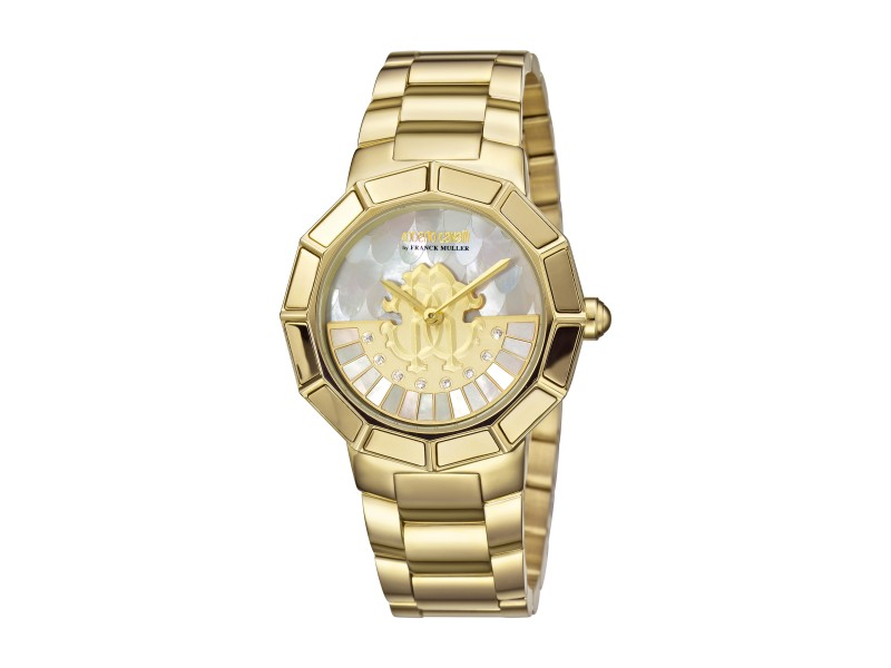 Roberto Cavalli Champagne MOP Gold Stainless Steel  RV2L011M0086 Watch