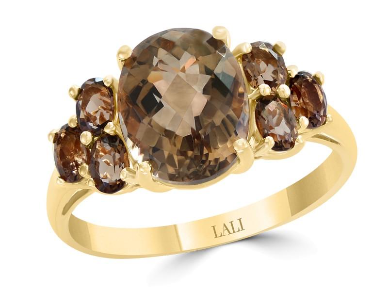 f189b18d96c6a 14k Yellow Gold Smoky Quartz Ring Size 7