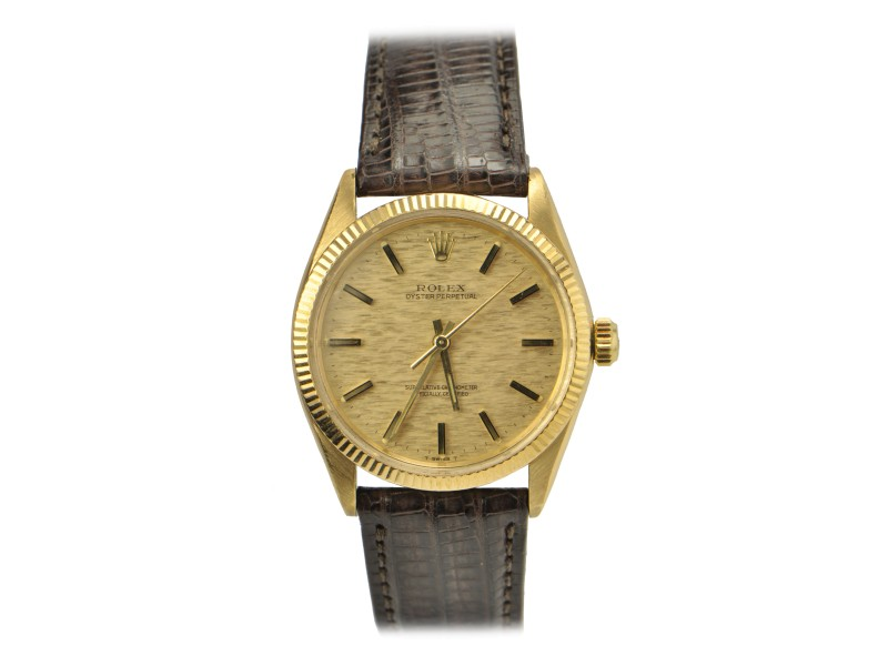 Rolex Oyster Perpetual Case Ref: 1005  Yellow Gold 34mm Watch