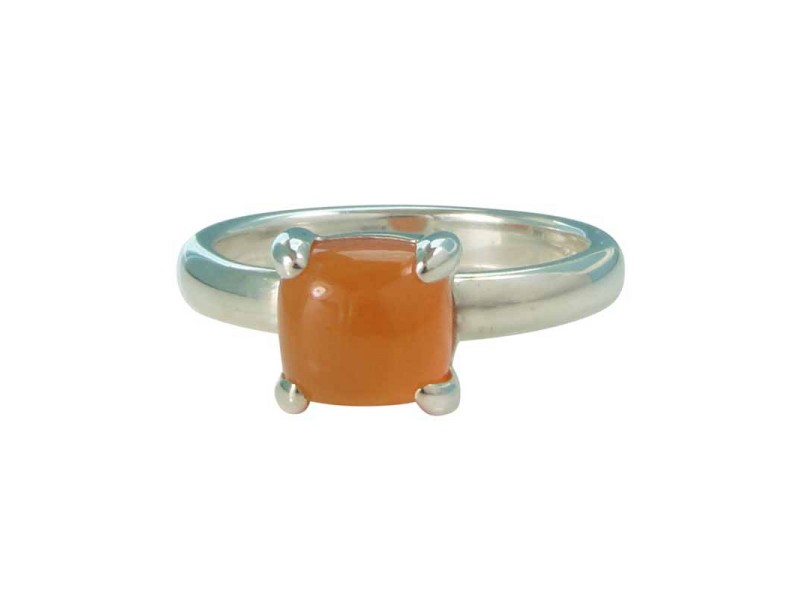 Tiffany & Co. Paloma Picasso Sterling Silver Sugar Stacks Carnelian Ring