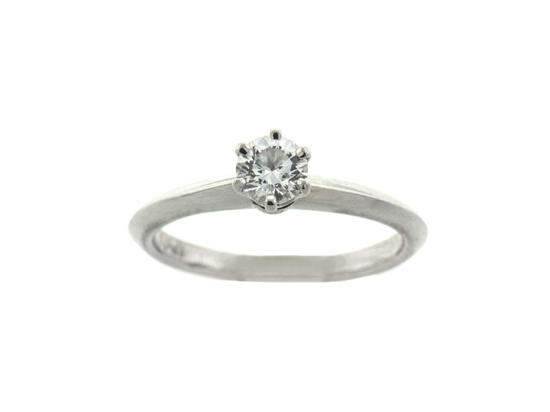 Platinum Tiffany & Co. Diamond Engagement Ring