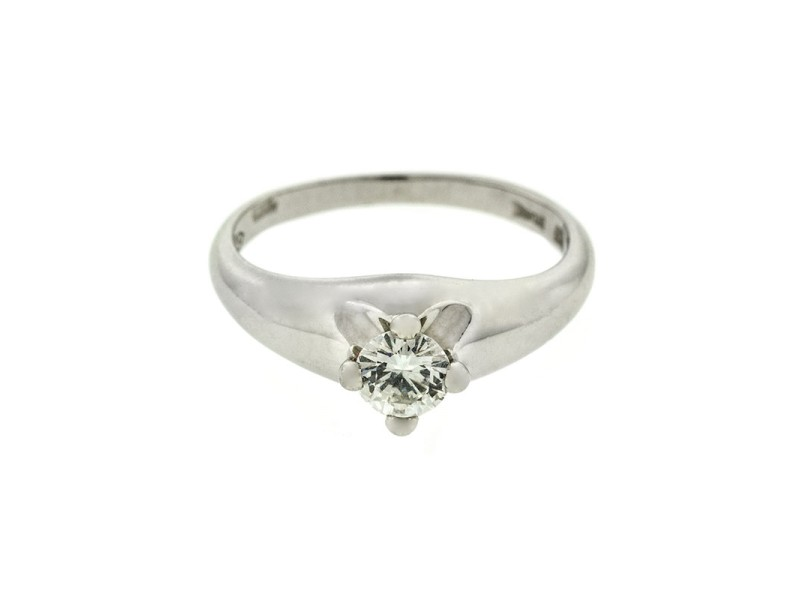 Bvlgari Platinum Diamond Engagement Ring