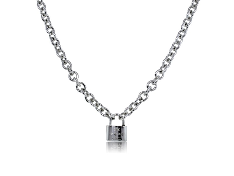 TIiffany & Co. 1837 Lock Charm Necklace