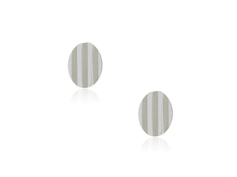 Tiffany Sterling Silver Grooved Cufflinks