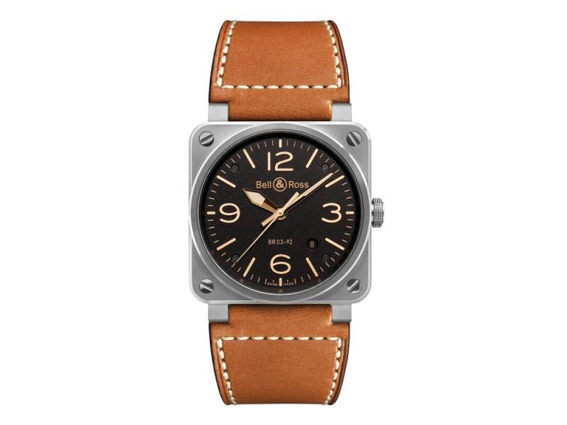 Bell & Ross Golden BR03-92-GOLDEN Stainless Steel Mens 42mm Watch