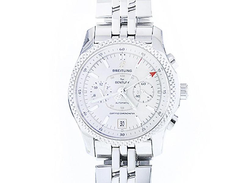 Breitling Bently Mark Vi Stainless Steel Platinum Bezel Watch