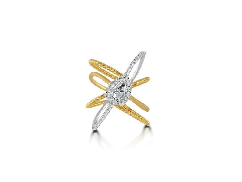 Rose Cut Diamond Ring in 18k Gold