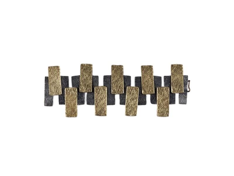 Brutalist Hand Made Panel Bracelet
