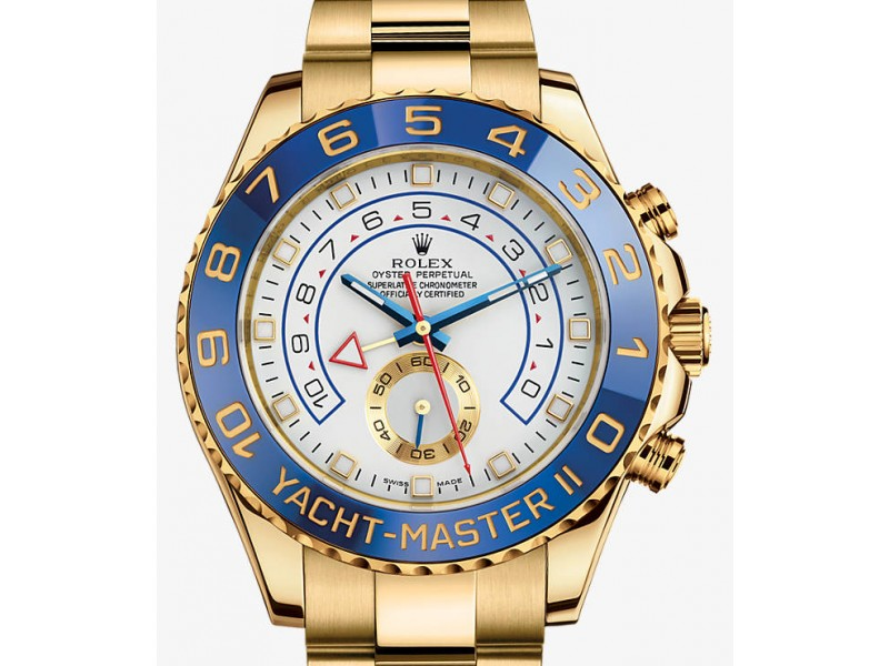 Rolex Yacht Master II 18K Gold 44mm Mens Watch