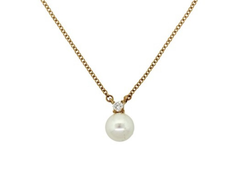 pearl gold ct tw diamond white pendant south sea