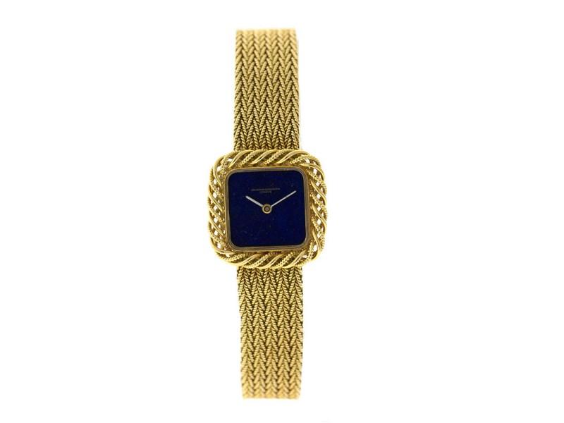 Vacheron Constantin 18K Yellow Gold Lapis Dial Womens Watch