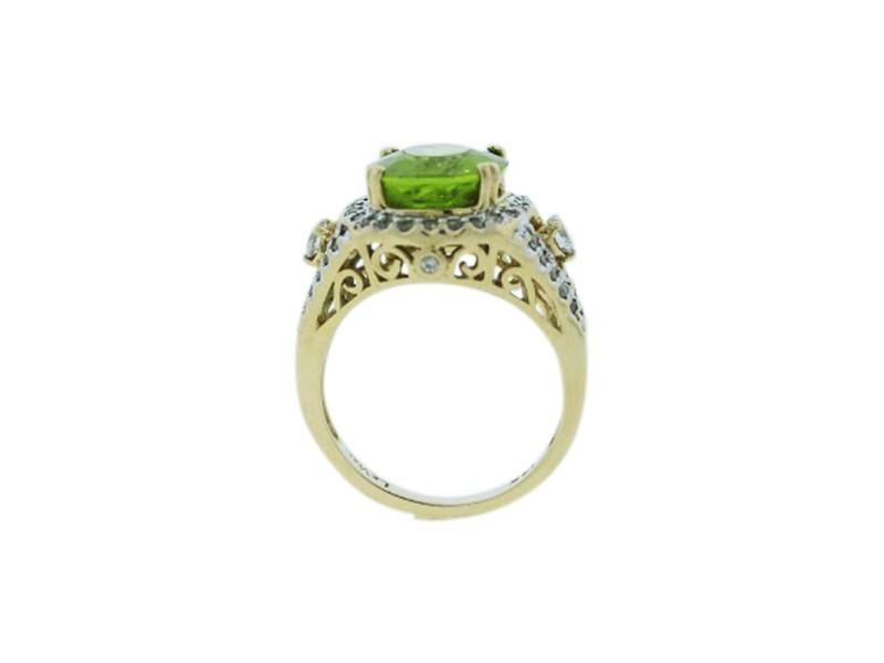 Le Vian 14K Yellow Gold Oval Peridot 0.50ctw Diamond Ring Size 6.75