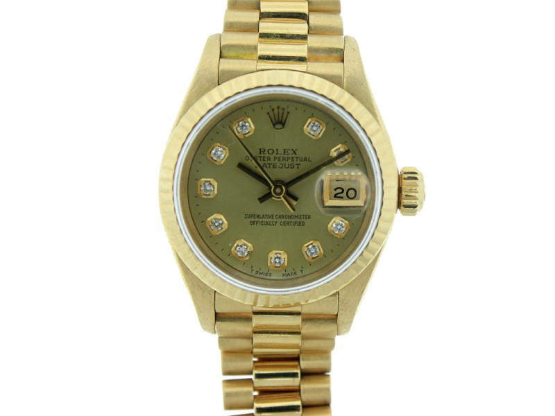 Rolex Oyster Perpetual Datejust 69178 26mm Yellow Gold Watch