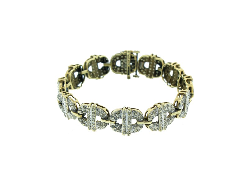 10K Yellow Gold & Diamond Bracelet