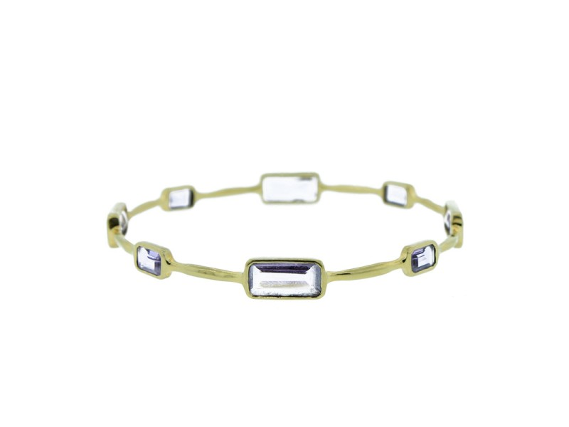Ippolita 18K Yellow Gold Rock Candy Gelato Amethyst Bangle