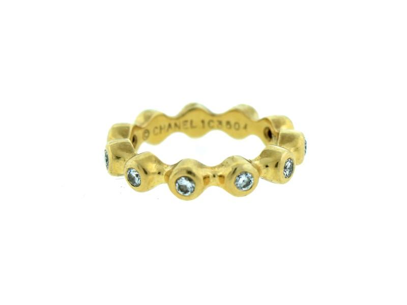 Chanel 18k Yellow Gold Diamond Eternity Band ring