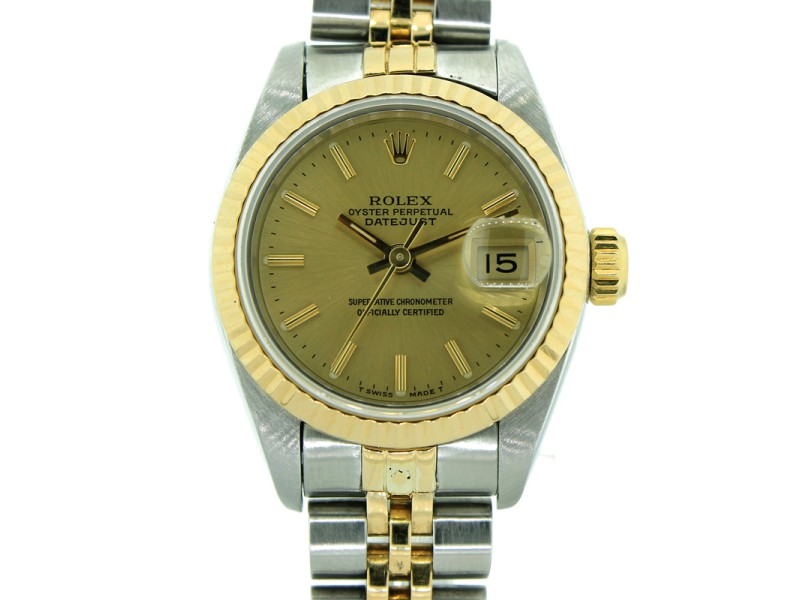 Rolex Datejust 179173 26mm Two Tone Watch