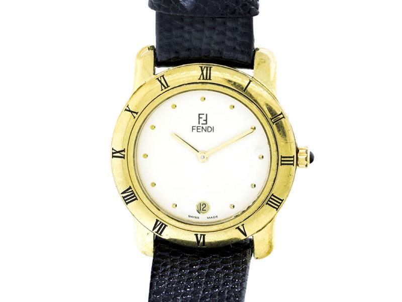 Fendi Watch Gold Plated Watch with Interchangeable Bezel