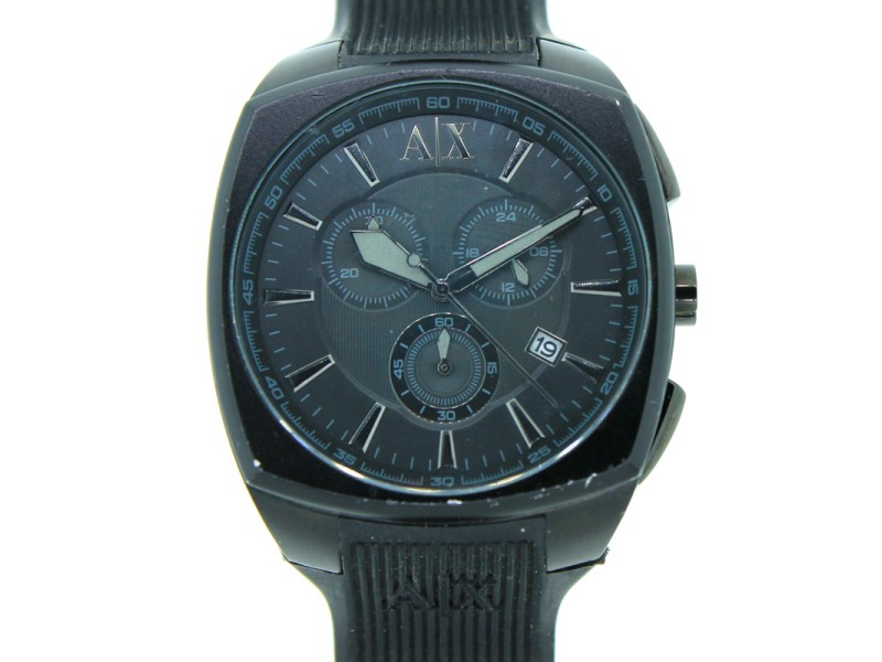 Armani Exchange Chronograph Date Silicone Band 50M Mens Watch