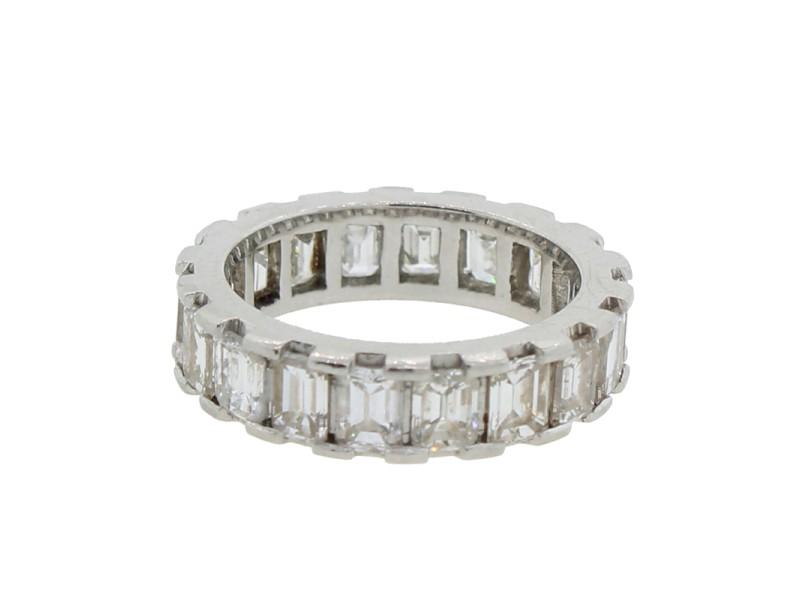Emerald Cut 4.39ctw Diamond Eternity Ring Size 5.5
