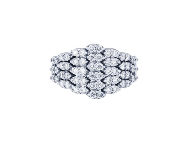 Fancy Diamond 14k White Gold Ring
