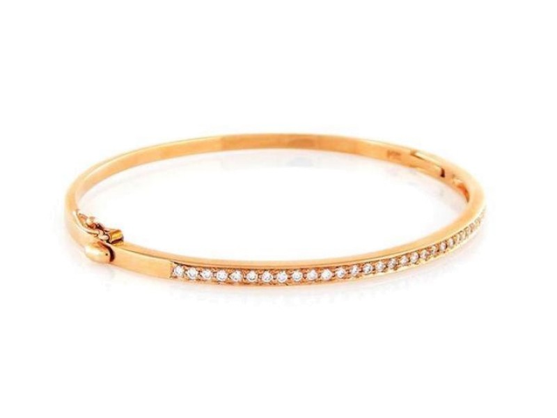 14K Rose Gold with 0.50ct Diamond Bracelet