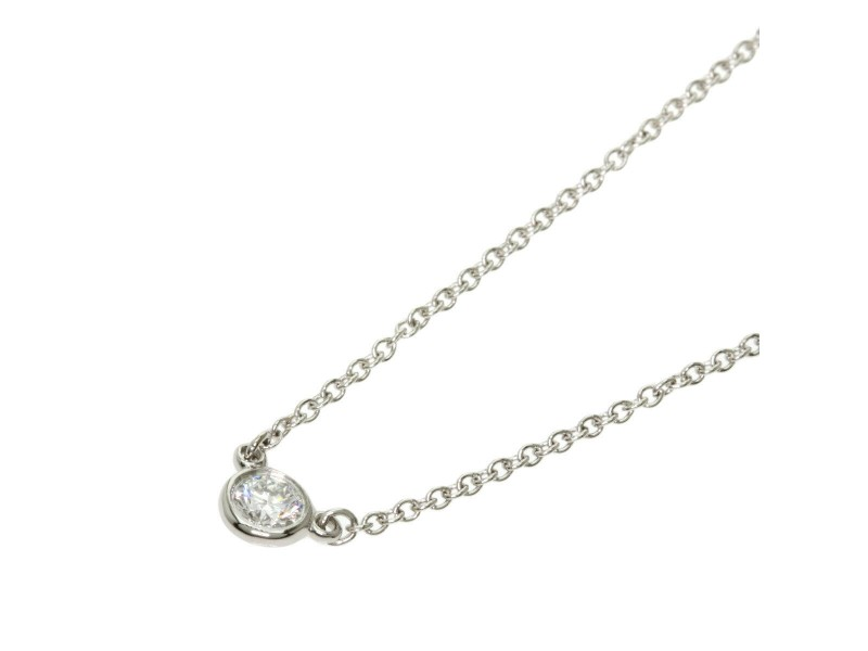 TIFFANY & Co. Platinum By The Yard Necklace