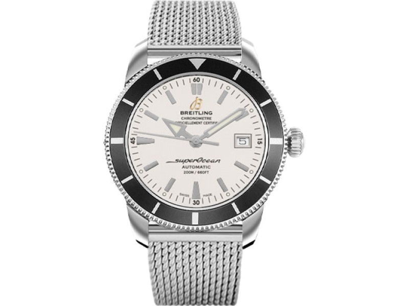 Breitling SuperOcean Heritage Stainless Steel with Silver Dial 42mm Mens Watch