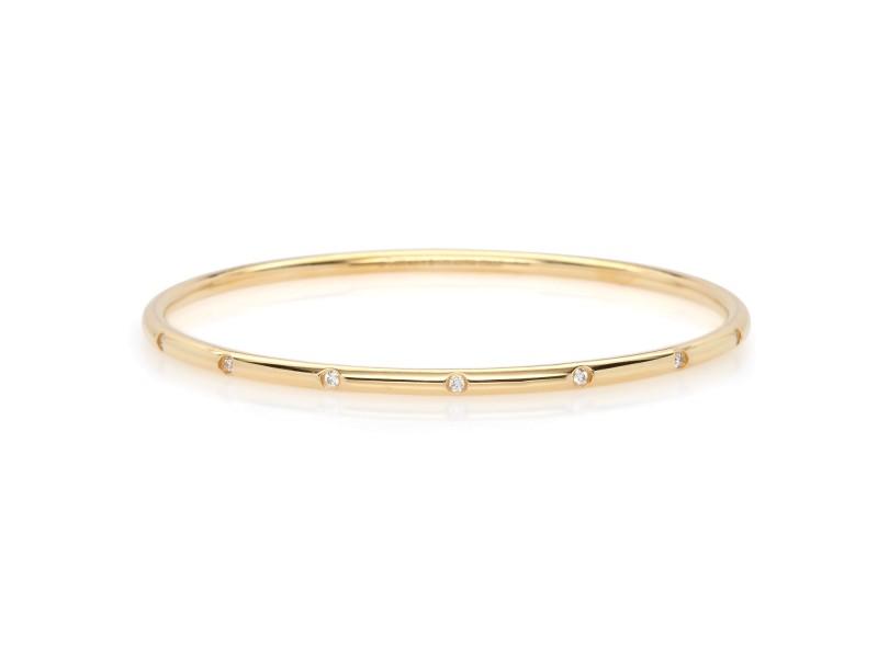 Tiffany & Co. 18K Yellow Gold and 0.40ctw Diamond Bangle Bracelet