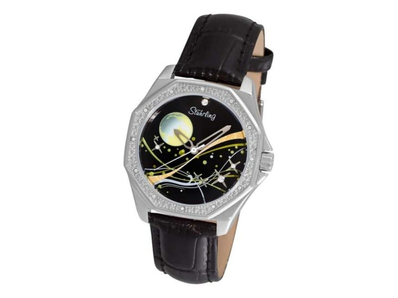 Stuhrling Gala Series 231D.11151 Stainless Steel & Leather 35mm Watch