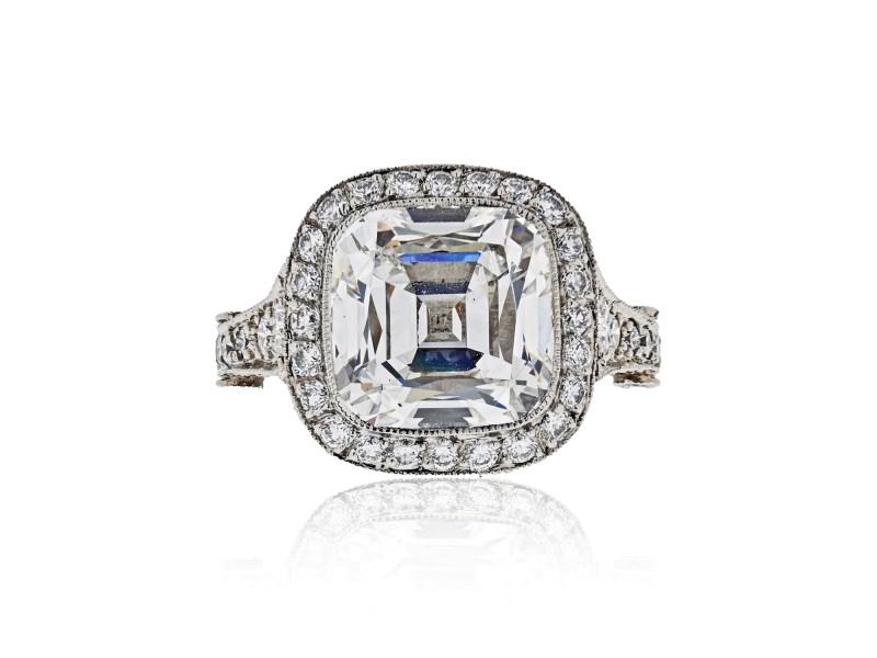 Tiffany & Co. Legacy 5.56 Cushion Cut Platinum Ring