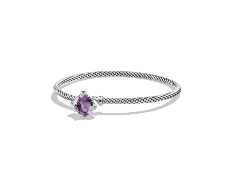 David Yurman Chatelaine Bracelet with Amethyst and Diamonds