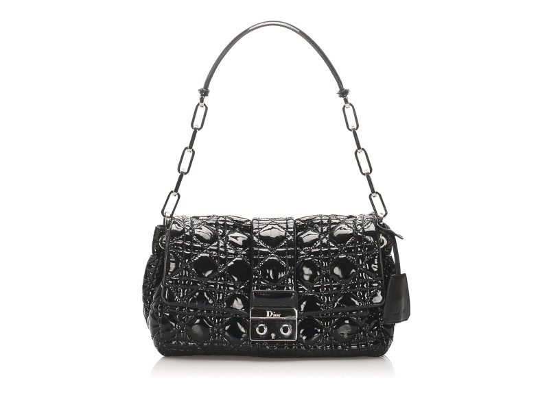 Cannage Miss Dior Patent Leather Flap Bag