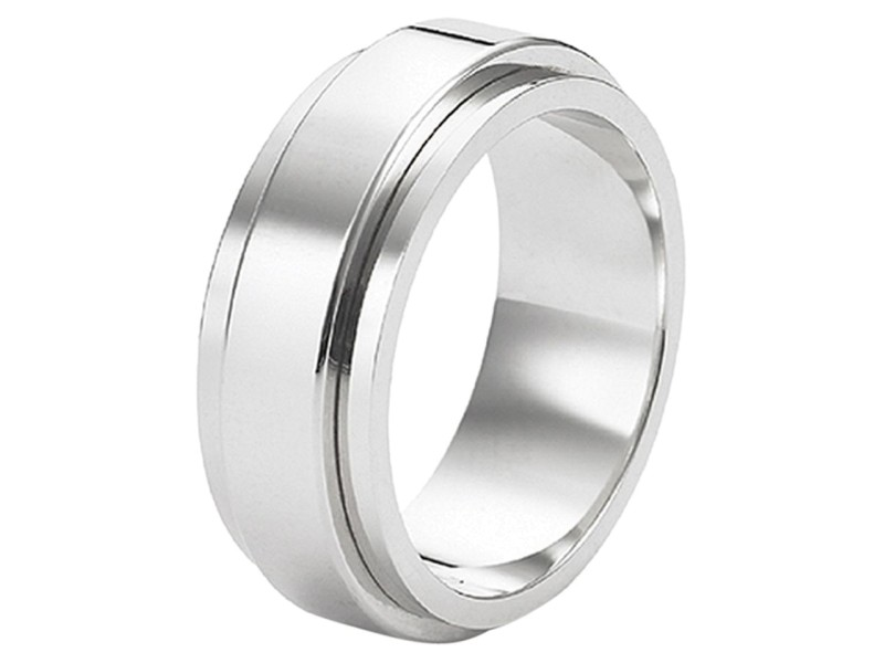 Piaget G34PK9 18K White Gold Possession Ring Size 5.75