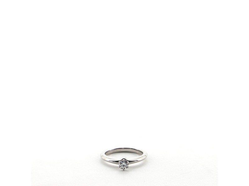 Tiffany & Co. Solitaire Ring Platinum with RBC Diamond D/VVS2 .23CT