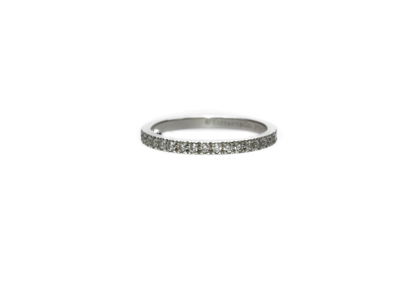 Tiffany & Co. Platinum and 0.36ct Diamond Novo Wedding Band Ring Size 6.5