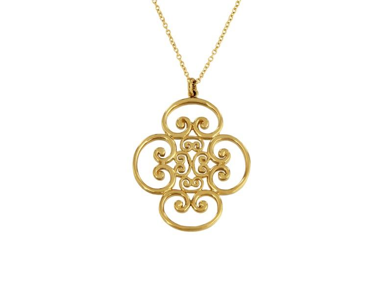 Tiffany & Co. Gold Paloma Picasso 18K Yellow Gold Quadruplo Pendant Necklace