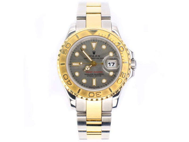 Rolex Yacht-Master Ladies 29MM 2-Tone Yellow Gold/Steel Watch with Silver Dial 69623