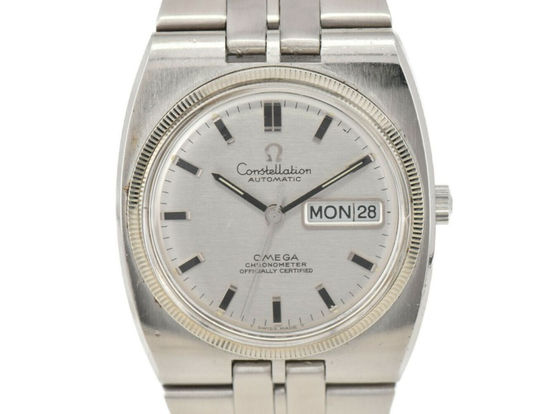 OMEGA Constellation Cal.751 K18WG/SS Silver Dial Automatic Men's Watch