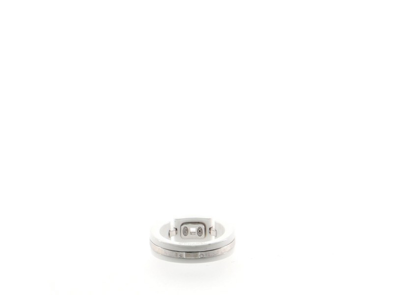 Chanel Ultra Link Ring Ceramic with 18K White Gold with Diamonds