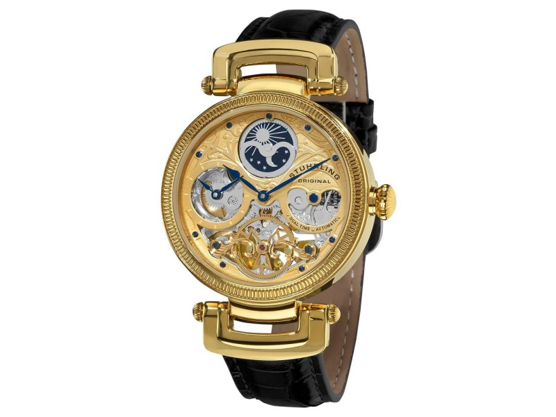 Stuhrling Magistrate 353A.333531 Gold-Tone Stainless Stele & Leather 41mm Watch