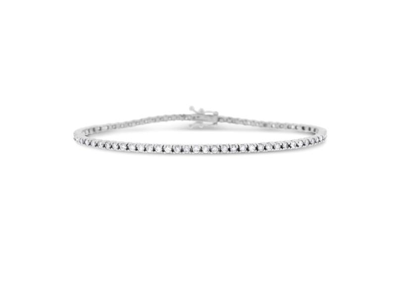 14K White Gold 1.90ct Diamond Tennis Bracelet