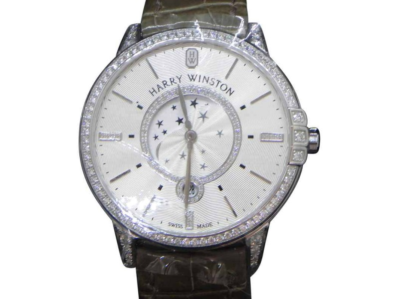 Harry Winston Midnight MIDQMP39WW002 39mm Womens Watch
