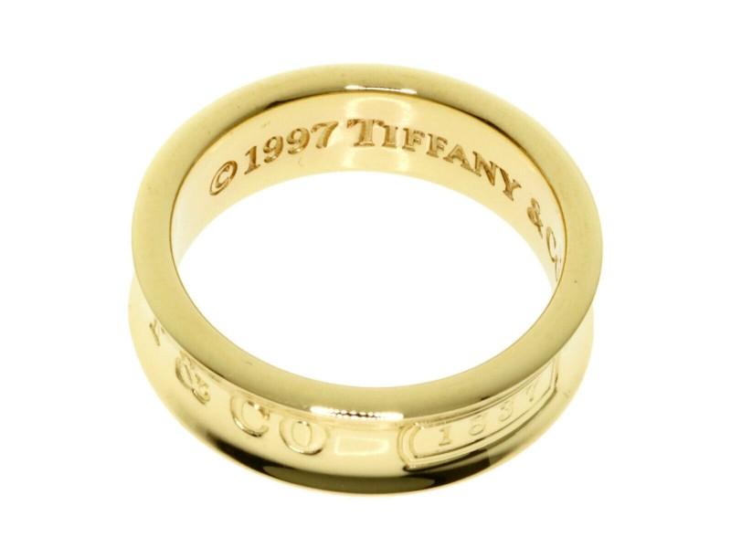 TIFFANY&Co. 18k Yellow Gold 1837 Ring
