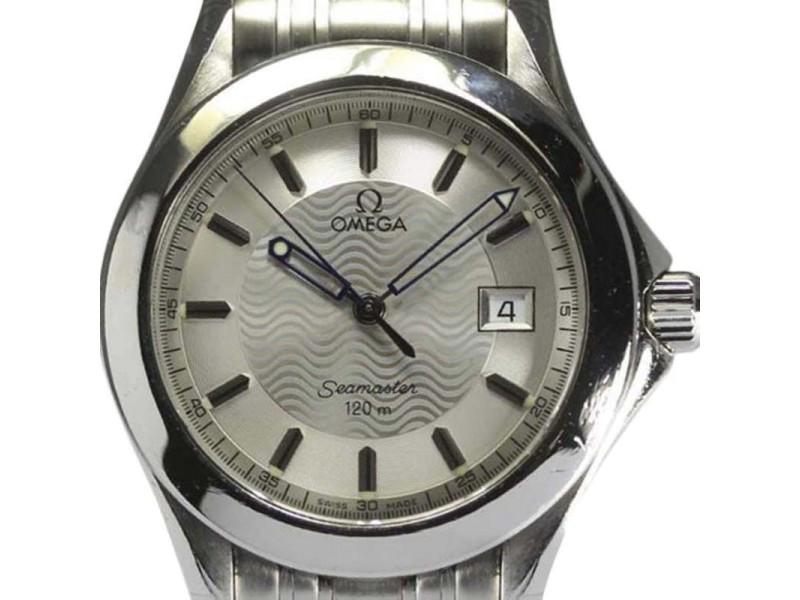 Omega Seamaster Stainless Steel Quartz 36mm Mens Watch