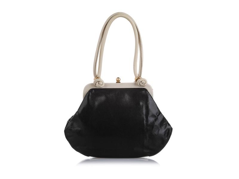Perforated Leather Handbag