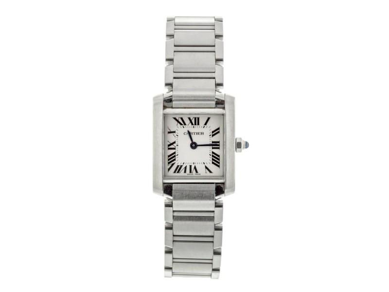 Cartier Tank Francaise W51008Q3 Silver Dial Watch