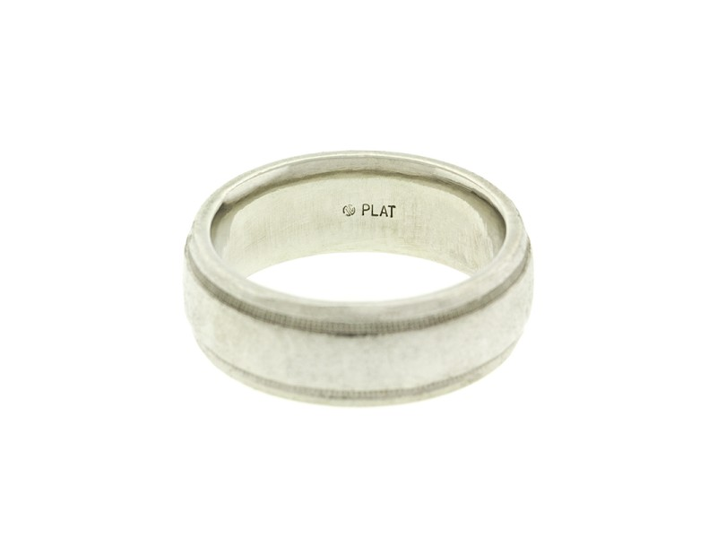 Platinum Milgrain Wedding Band